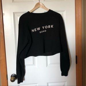 Cropped New York soho sweatshirt